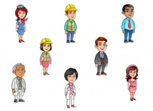 Personnages pour elearning